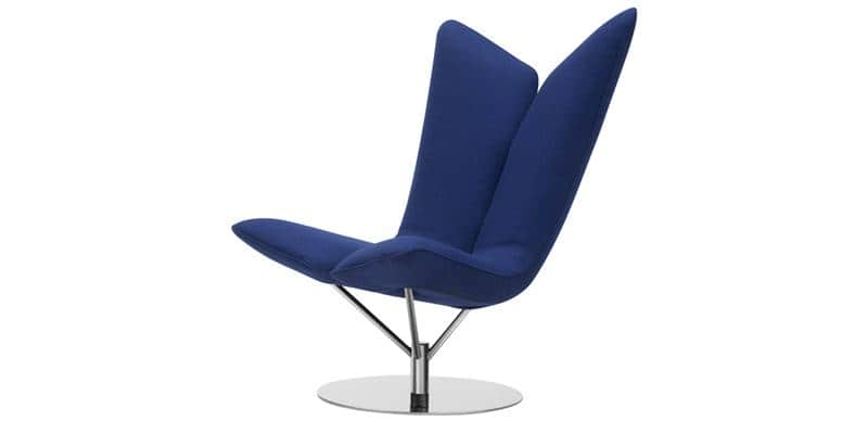 softline angel bleu marine tous les fauteuils sur easylounge. Black Bedroom Furniture Sets. Home Design Ideas