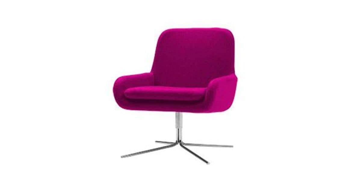 Softline coco swivel fushia tous les fauteuils sur easylounge - Fauteuil rose fushia ...