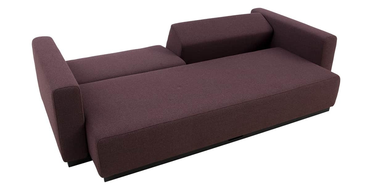 Softline colorado prune canap s convertibles sur easylounge - Canape convertible prune ...