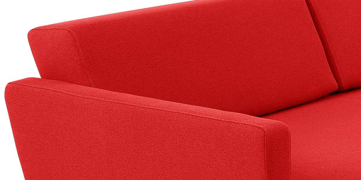 softline lounge rouge canap s droits sur easylounge. Black Bedroom Furniture Sets. Home Design Ideas
