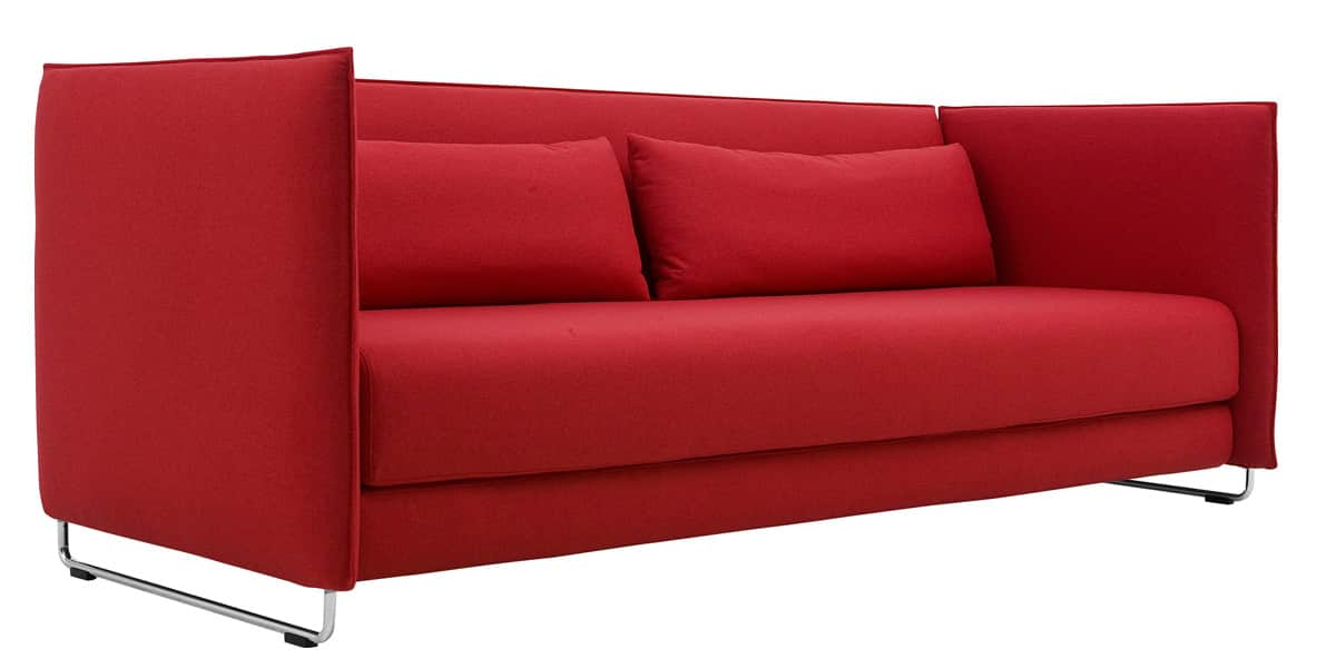 softline metro rouge canap s convertibles sur easylounge. Black Bedroom Furniture Sets. Home Design Ideas