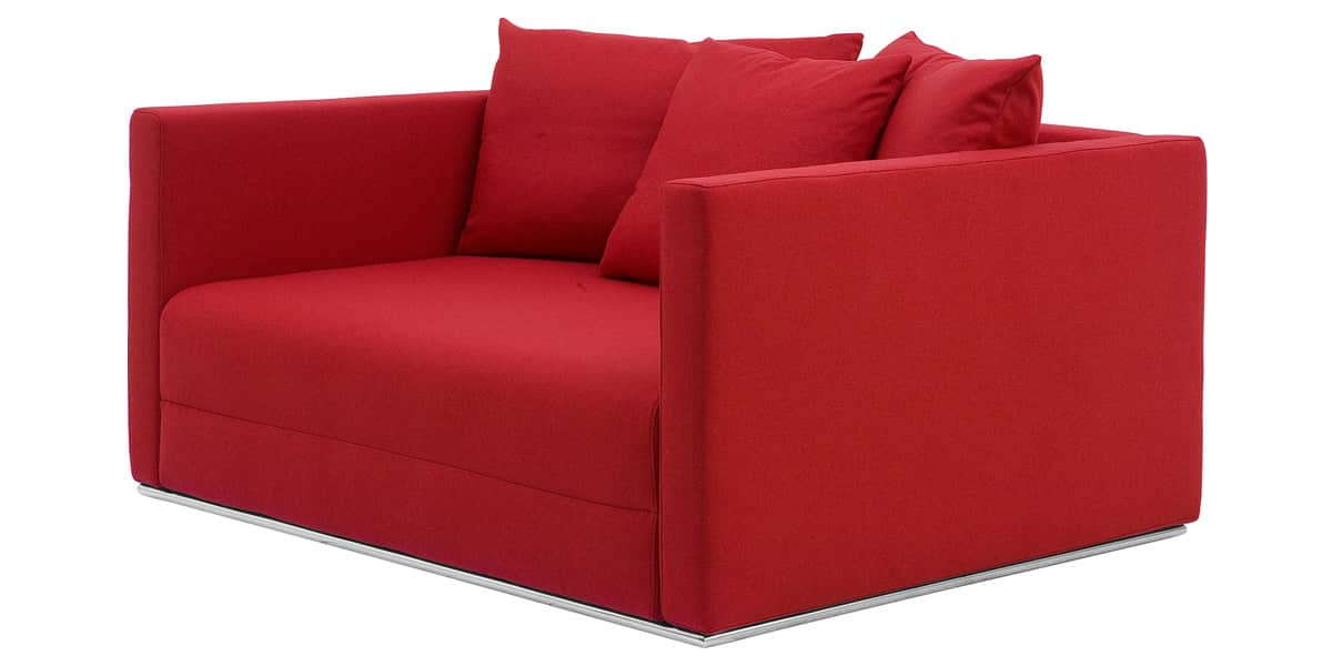 Softline nest rouge tous les canap s sur easylounge for Canape 2 places rouge