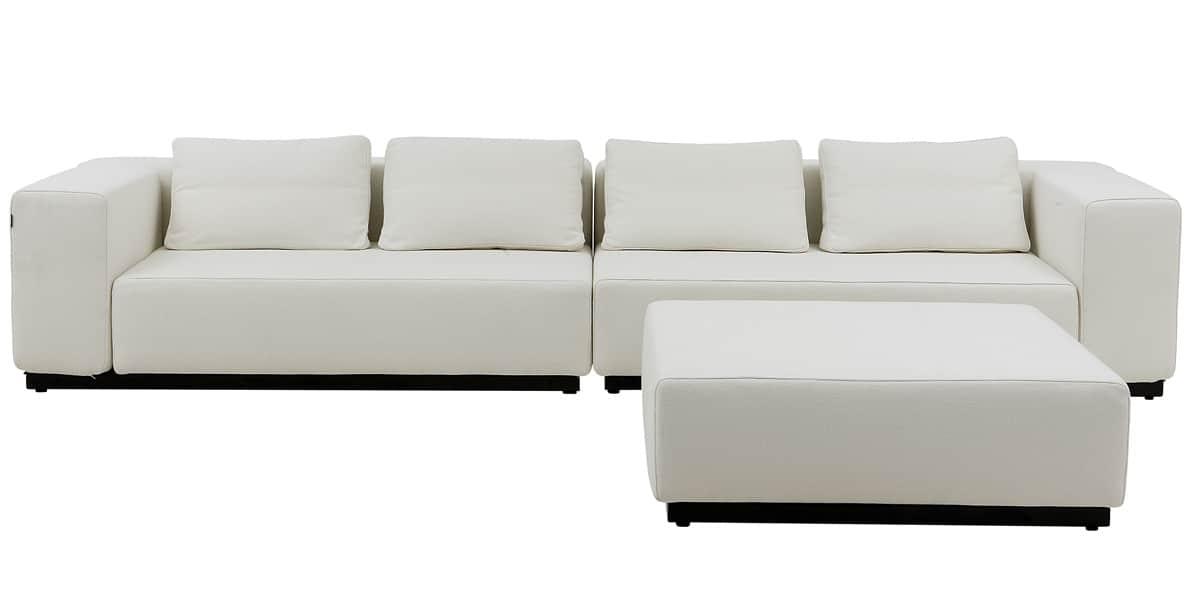 softline nevada 04 ecru canap s droits sur easylounge. Black Bedroom Furniture Sets. Home Design Ideas
