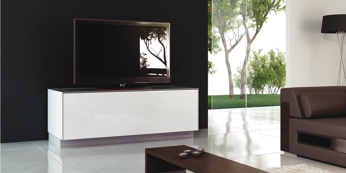 sonorous ex10f blanc laqu meubles tv sonorous sur easylounge. Black Bedroom Furniture Sets. Home Design Ideas