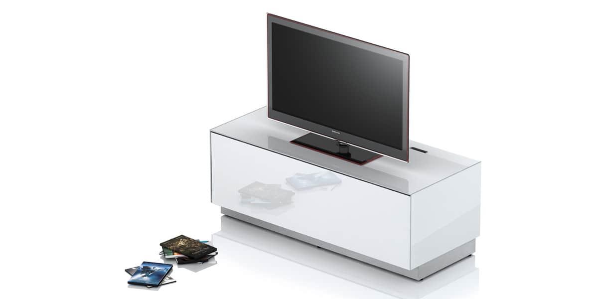 Sonorous ex10f blanc laqu meubles tv sonorous sur - Meuble tv infrarouge ...