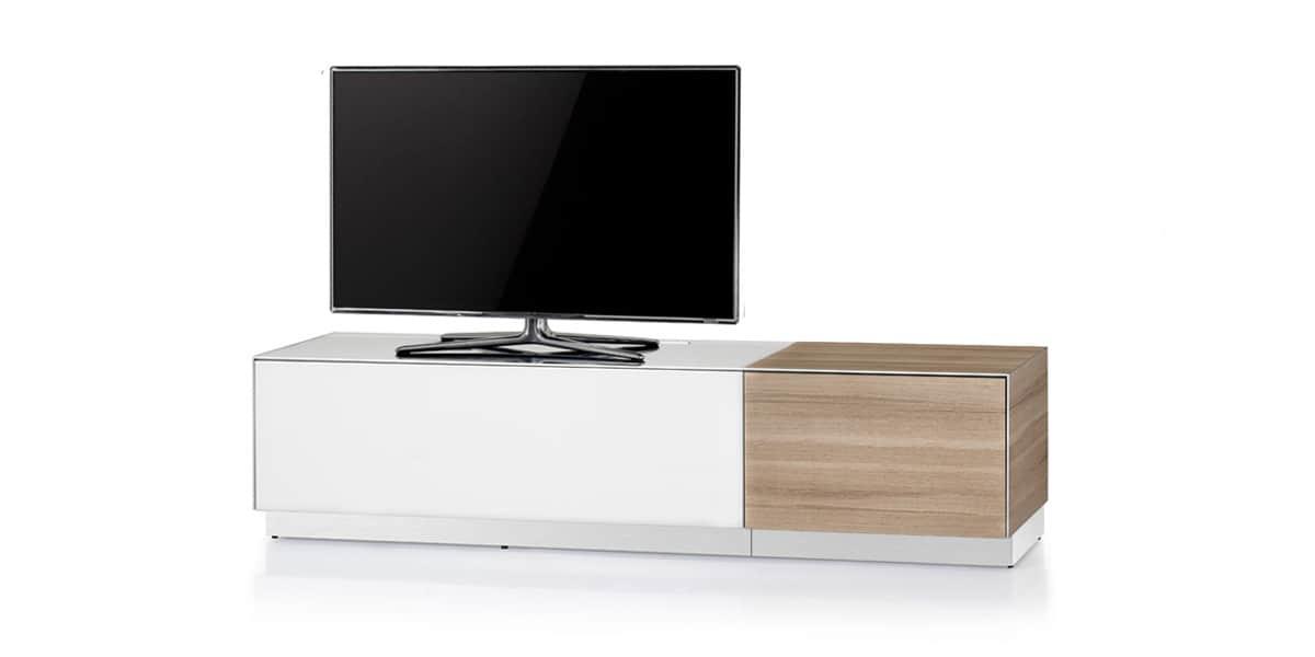 Sonorous emx130 blanc ch ne meubles tv sonorous sur easylounge - Meuble tv blanc et chene ...