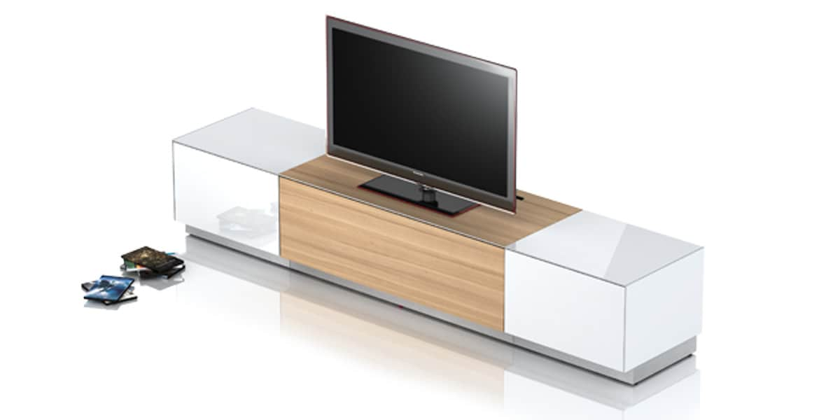 sonorous elements ch ne et blanc meubles tv sur easylounge. Black Bedroom Furniture Sets. Home Design Ideas