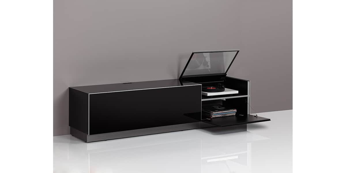 meuble tv avec vitre maison design. Black Bedroom Furniture Sets. Home Design Ideas