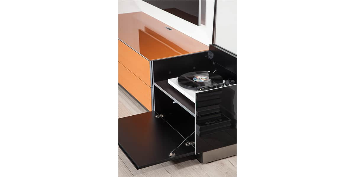hoerboard meuble retro pour platines et disques vinyles of meuble pour platine vinyle. Black Bedroom Furniture Sets. Home Design Ideas