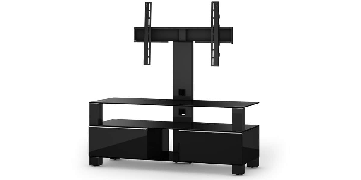 Sonorous md8123 noir meubles tv sonorous sur easylounge - Meuble tv avec support orientable ...