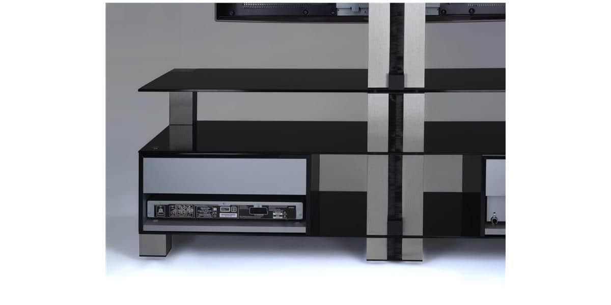 sonorous md8123 noir meubles tv sonorous sur easylounge. Black Bedroom Furniture Sets. Home Design Ideas