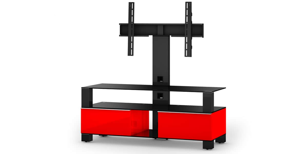 sonorous md8123 rouge meubles tv sonorous sur easylounge. Black Bedroom Furniture Sets. Home Design Ideas
