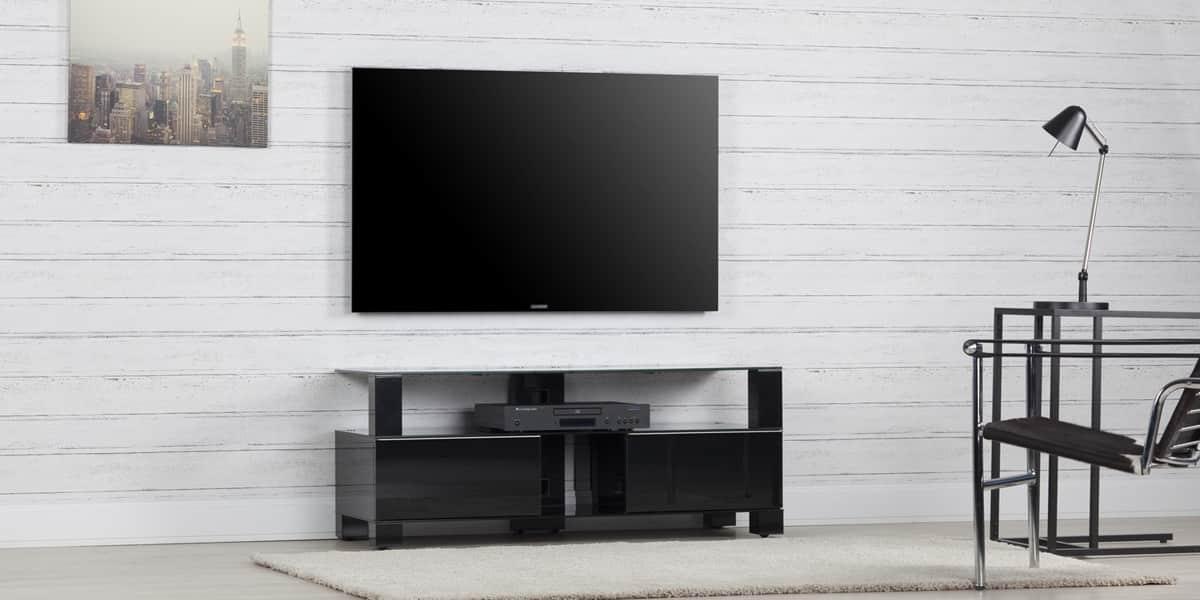 sonorous md9120 noir meubles tv sonorous sur easylounge. Black Bedroom Furniture Sets. Home Design Ideas