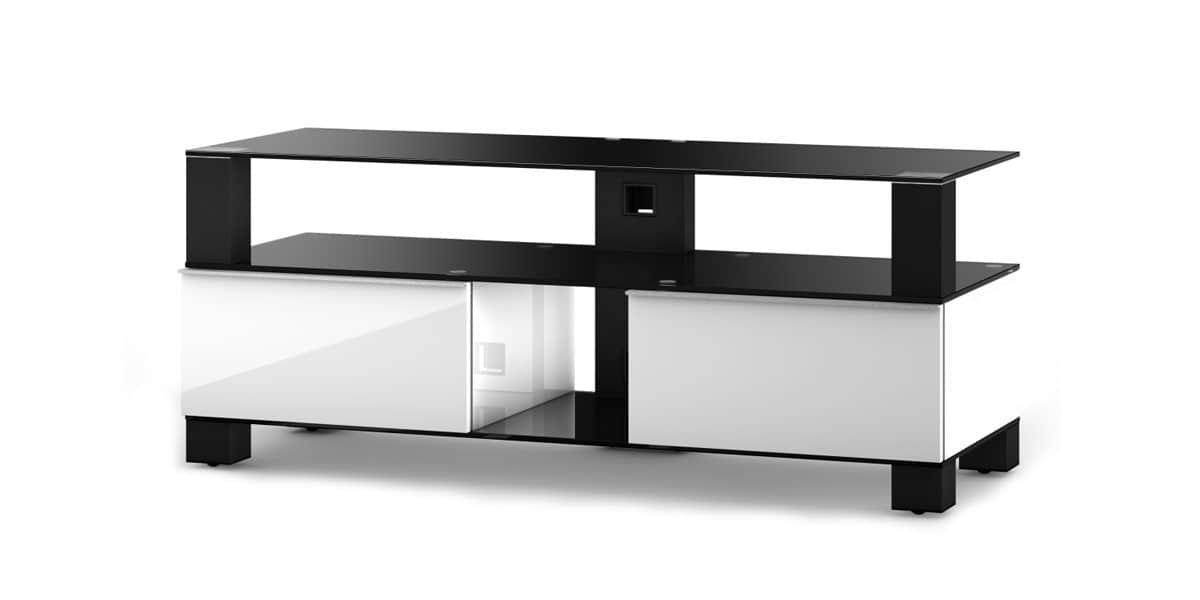 Sonorous md9120 blanc et noir meubles tv sonorous sur - Meuble tv blanc et noir ...