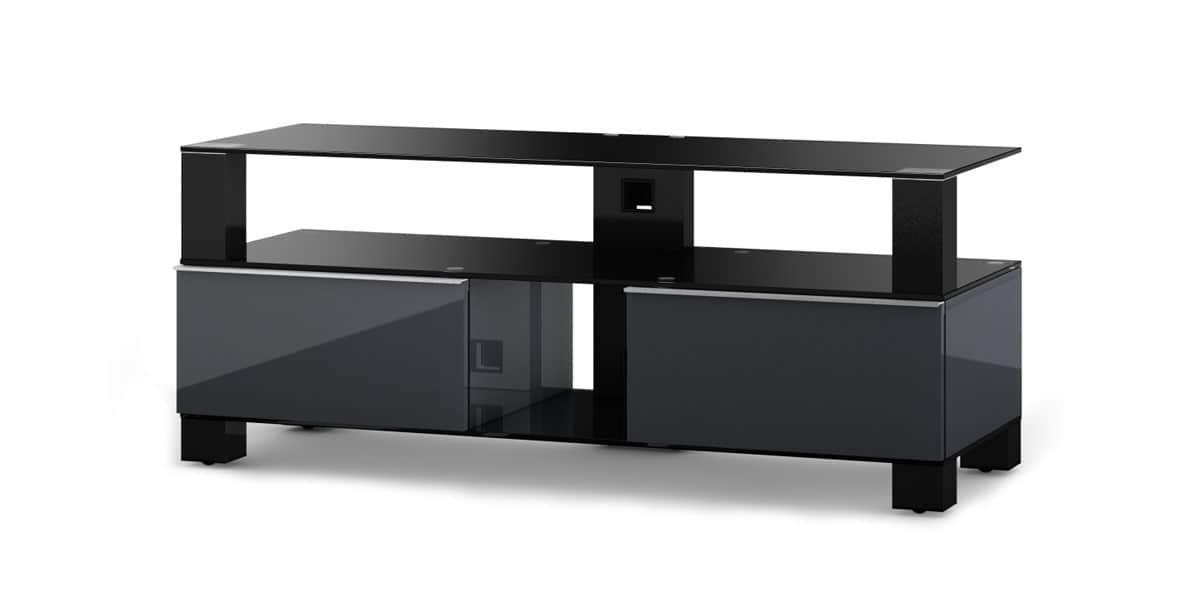 Sonorous md9120 gris et noir meubles tv sonorous sur for Meuble tv noir et gris