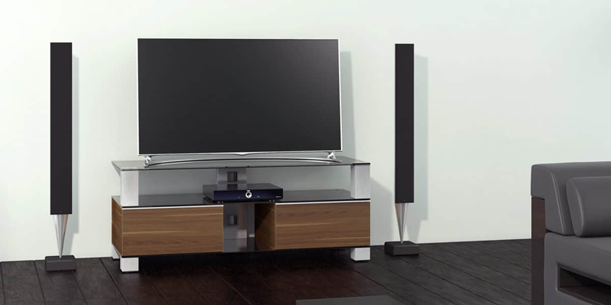sonorous md9120 walnut meubles tv sonorous sur easylounge. Black Bedroom Furniture Sets. Home Design Ideas