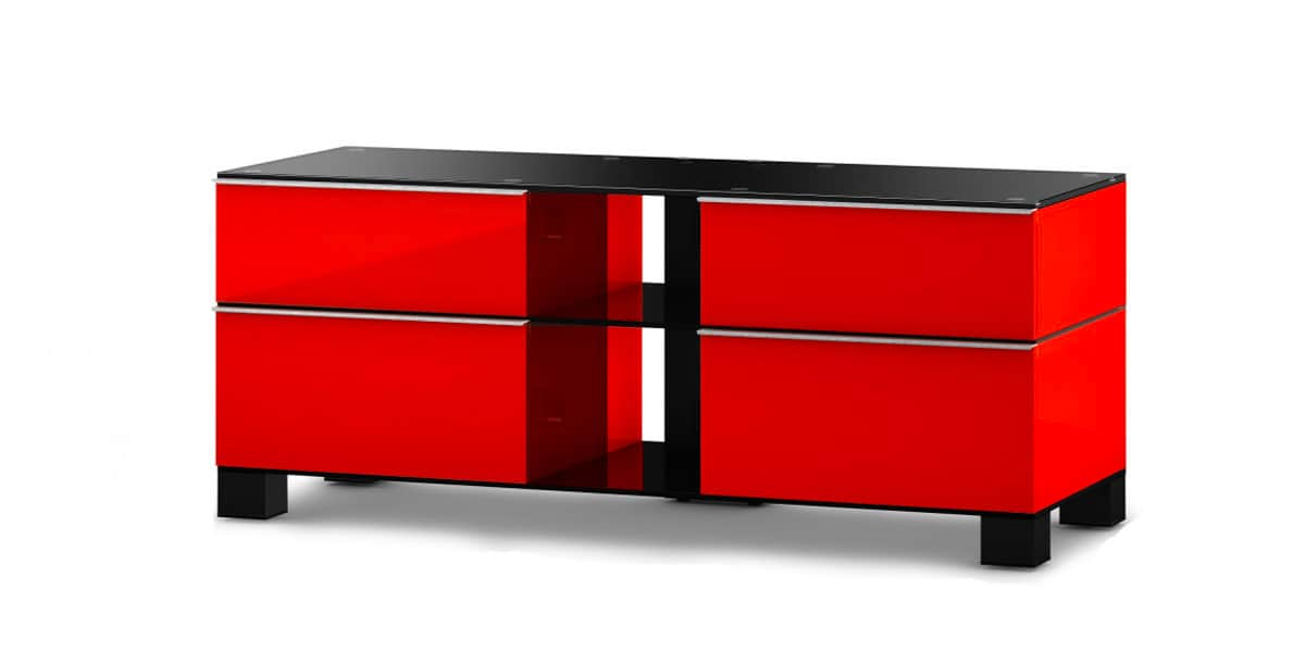 sonorous md9220 rouge meubles tv sonorous sur easylounge. Black Bedroom Furniture Sets. Home Design Ideas