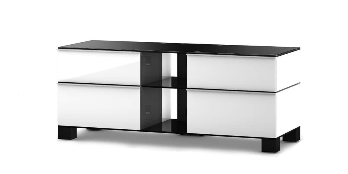 Sonorous md9220 blanc et noir meubles tv sonorous sur for Meuble tv blanc et noir