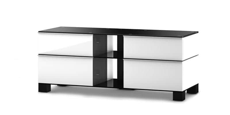 sonorous md9220 blanc et noir meubles tv sonorous sur easylounge. Black Bedroom Furniture Sets. Home Design Ideas