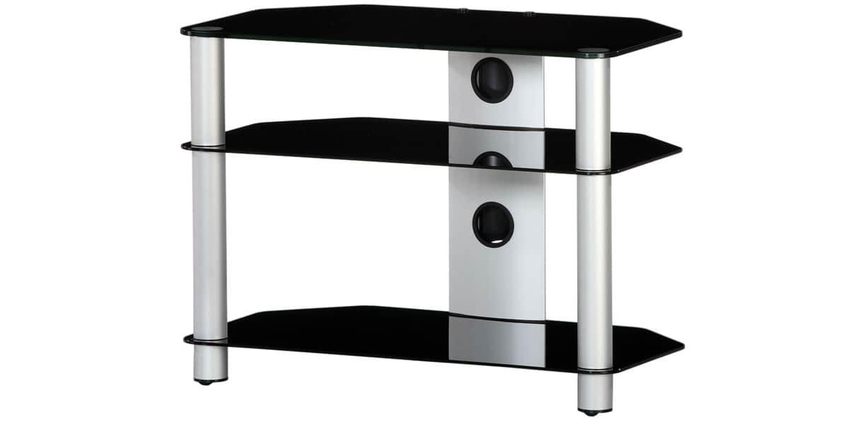sonorous neo370 argent et noir meubles tv sonorous sur easylounge. Black Bedroom Furniture Sets. Home Design Ideas