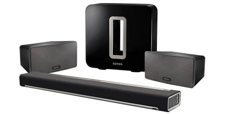 Sonos Pack Playbar, Play 3 et Sub Noir