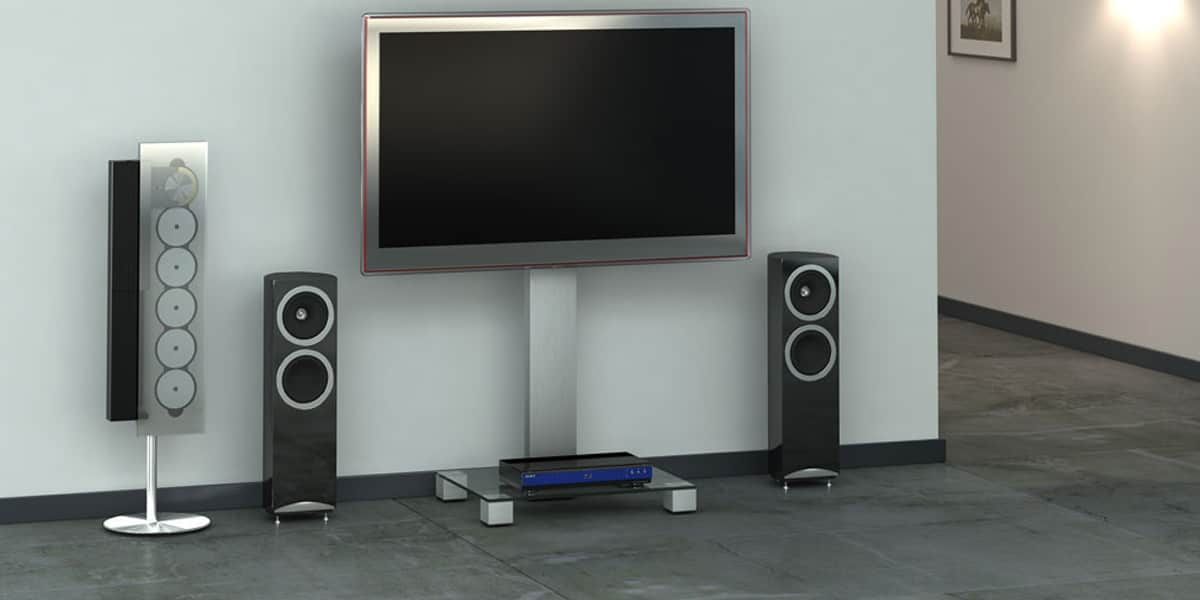 sonorous pl2510 inox supports tv roulettes sur easylounge. Black Bedroom Furniture Sets. Home Design Ideas