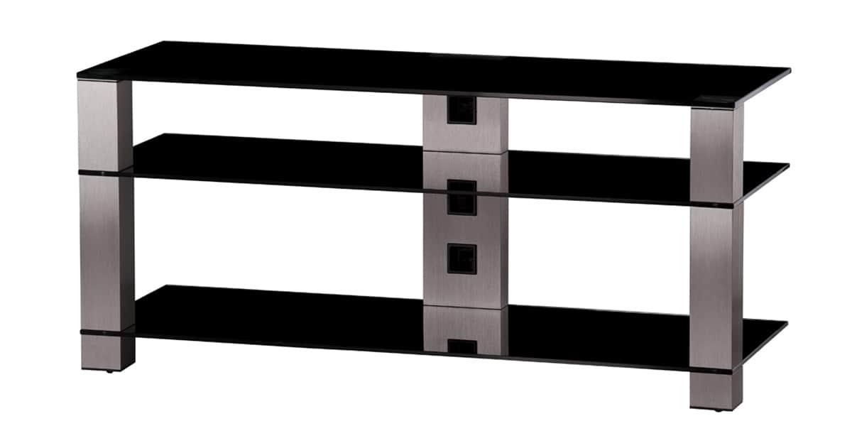 sonorous pl3400 inox et noir meubles tv sonorous sur. Black Bedroom Furniture Sets. Home Design Ideas