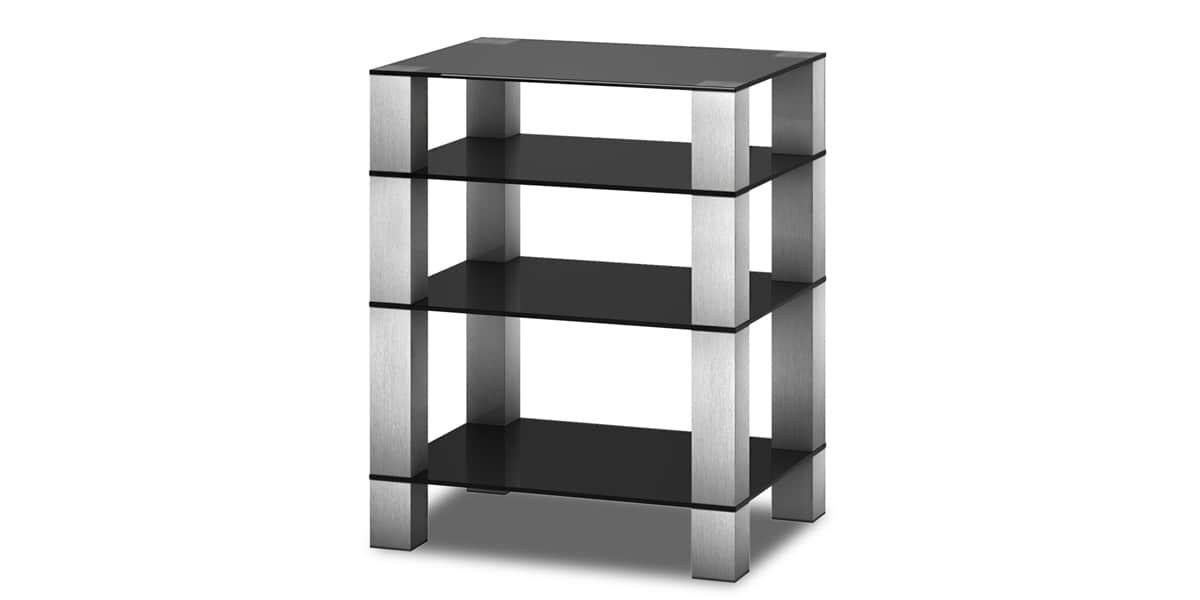 Sonorous rx5040 inox noir meubles hifi sur easylounge - Meuble chaine hifi en verre ...