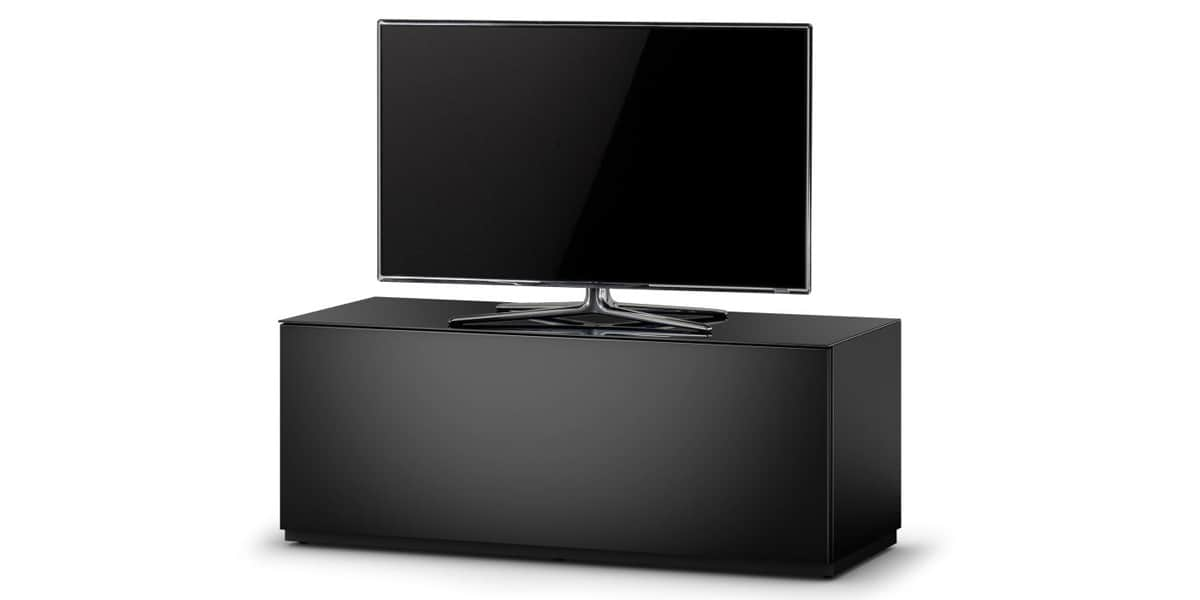 sonorous studio 110 noir meubles tv sonorous sur easylounge. Black Bedroom Furniture Sets. Home Design Ideas