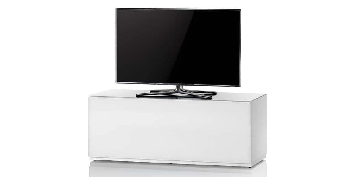 sonorous studio 110 blanc meubles tv sonorous sur easylounge. Black Bedroom Furniture Sets. Home Design Ideas
