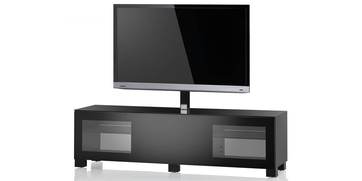 Sonorous studio 161 noir meubles tv sonorous sur easylounge for Meuble support tv