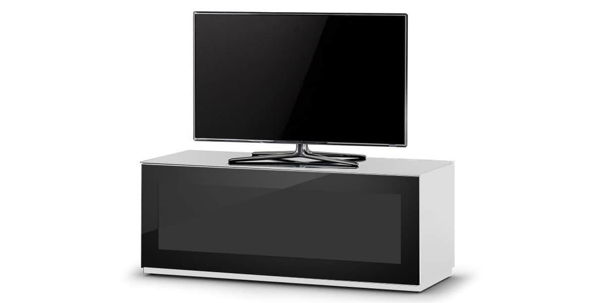 Sonorous studio 110i blanc et noir easylounge for Meuble tv blanc et noir