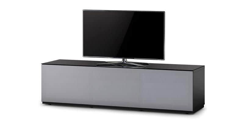 Sonorous studio 260t noir et gris meubles tv sonorous for Meuble tv noir et gris