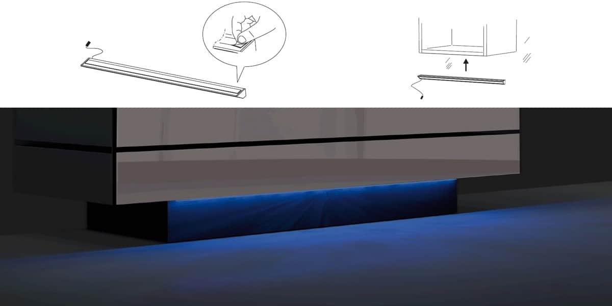 Spectral led multicolore accessoires meubles tv sur easylounge - Eclairage led pour meuble tv ...