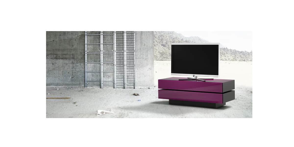 Spectral brick 1202 sl violet meubles tv sur easylounge - Meuble tv violet ...