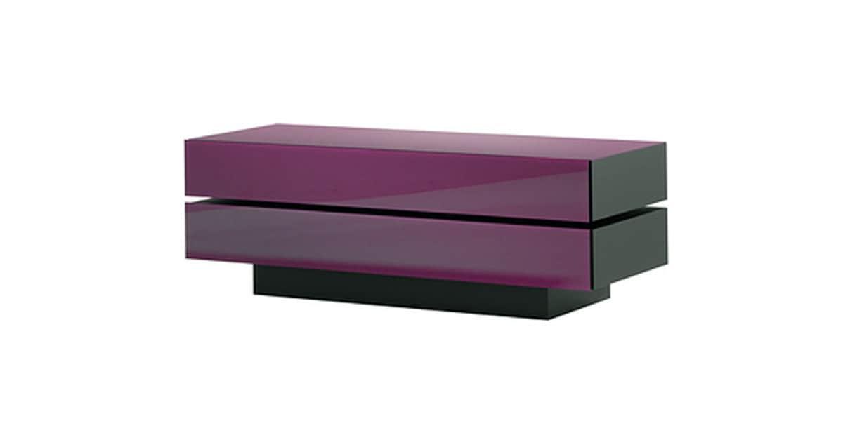 Meuble tv brick avec rev tement en verre brillant couleur for Meuble brick