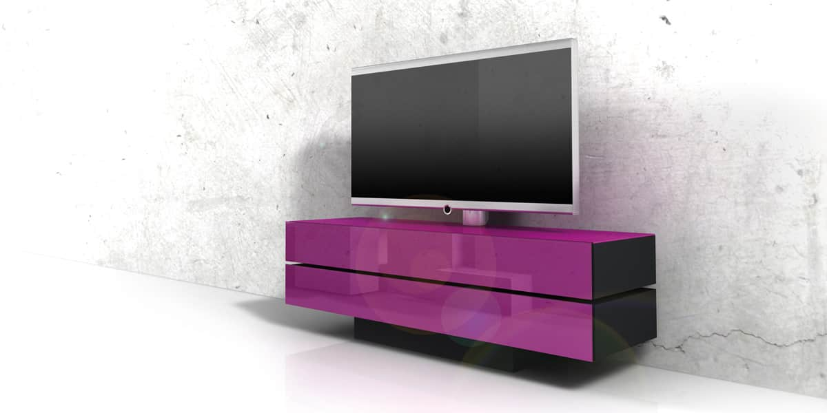 meuble TV moderne noir Meuble Télé