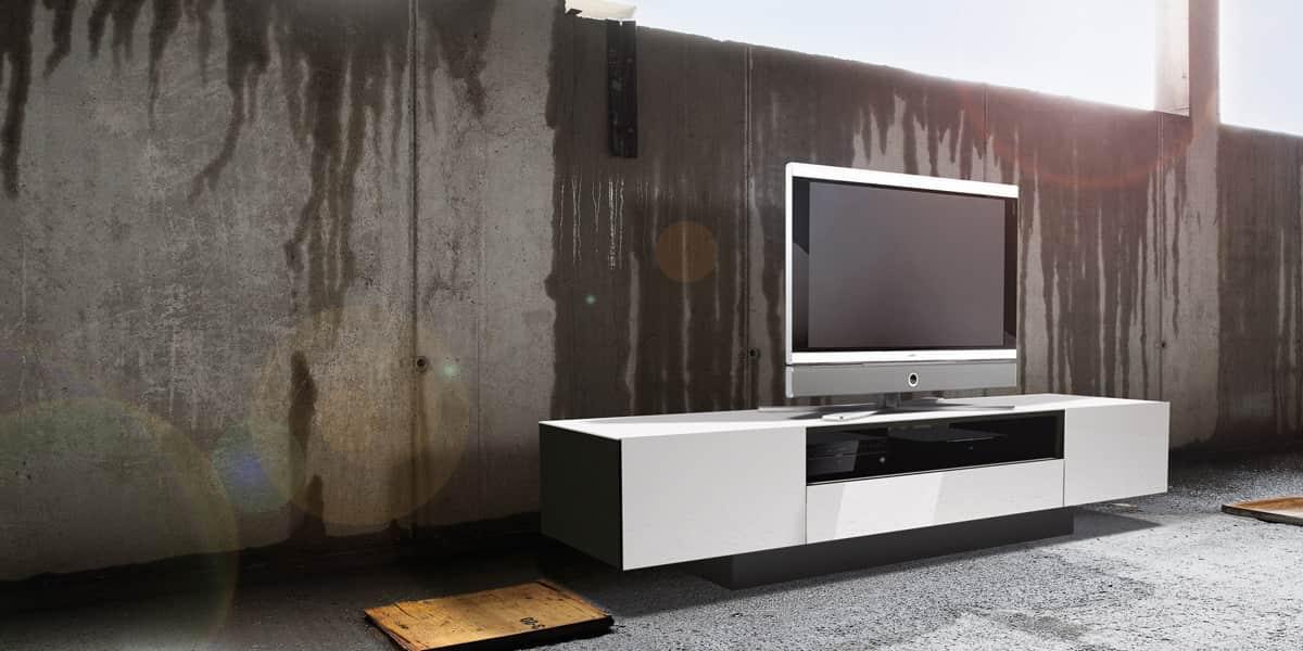 Spectral brick 2000 blanc meubles tv spectral sur easylounge for Chez brick meuble