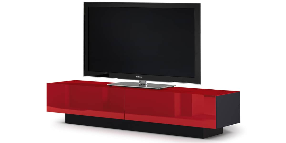 Spectral brick 2001 rouge meubles tv spectral sur easylounge for Meuble tv rouge