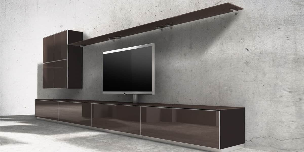 spectral catena02 marron meubles tv spectral sur easylounge. Black Bedroom Furniture Sets. Home Design Ideas