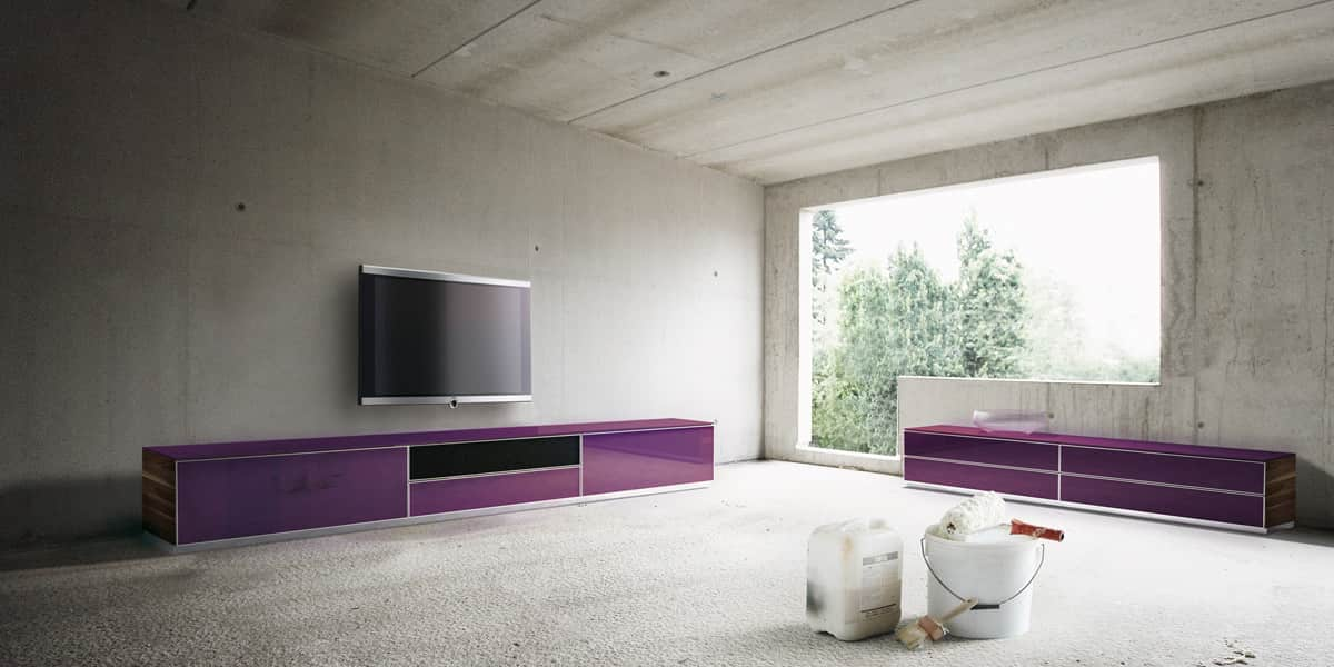 Spectral catena03 violet meubles tv sur easylounge - Meuble tv violet ...