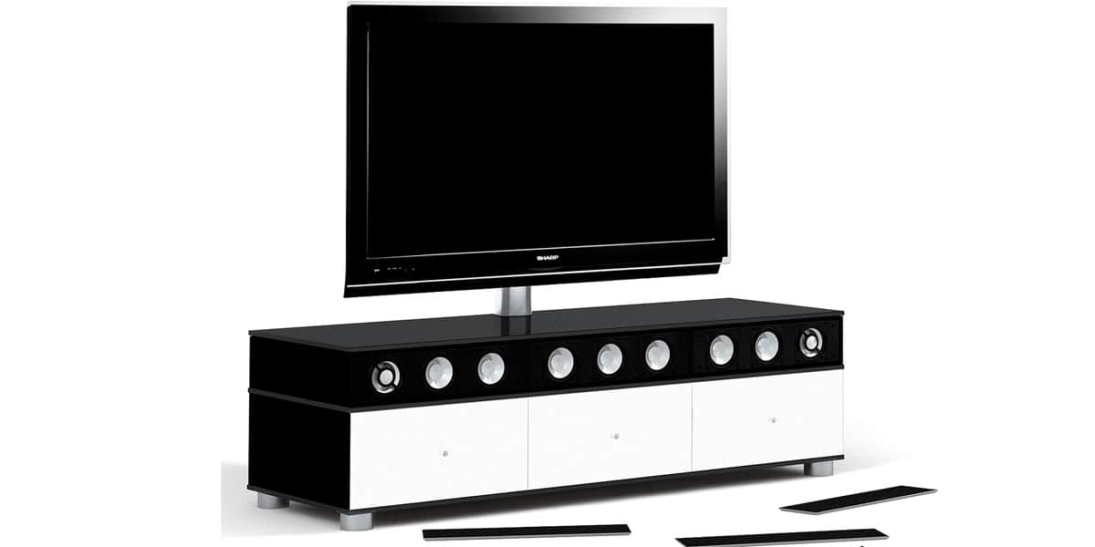 spectral cl4562 x4 noir blanc meubles tv spectral sur easylounge. Black Bedroom Furniture Sets. Home Design Ideas