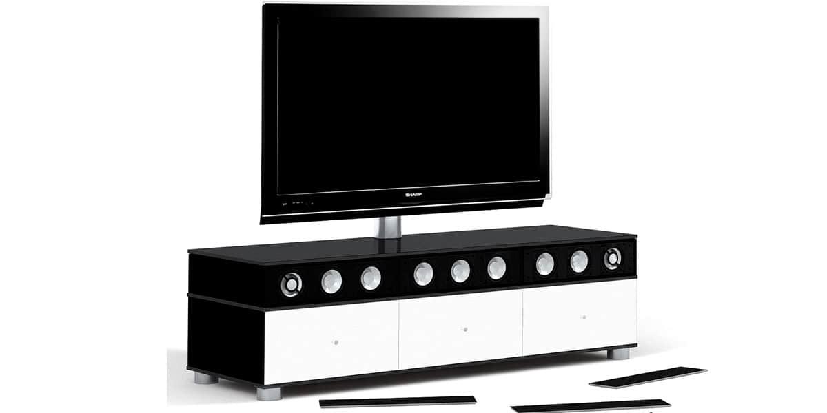 Spectral cl4562 x4 noir blanc meubles tv spectral sur for Meuble tv support