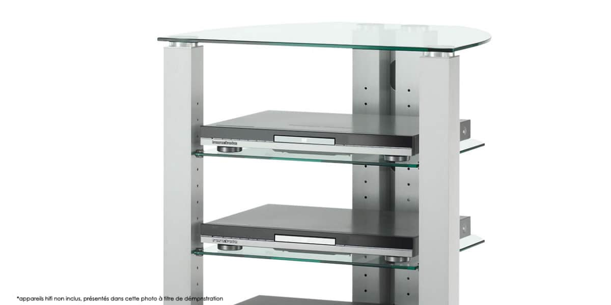 spectral corner 105 verre clair meubles hifi sur easylounge. Black Bedroom Furniture Sets. Home Design Ideas