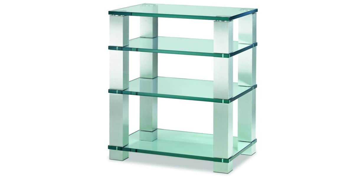 Spectral high end he684 verre clair meubles hifi sur for Meuble chaine hifi en verre