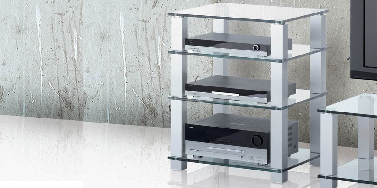 Spectral high end he684 verre clair meubles hifi sur for Meuble chaine hifi design