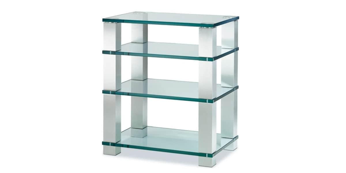 Spectral he684 verre clair meubles hifi sur easylounge - Meuble chaine hifi en verre ...