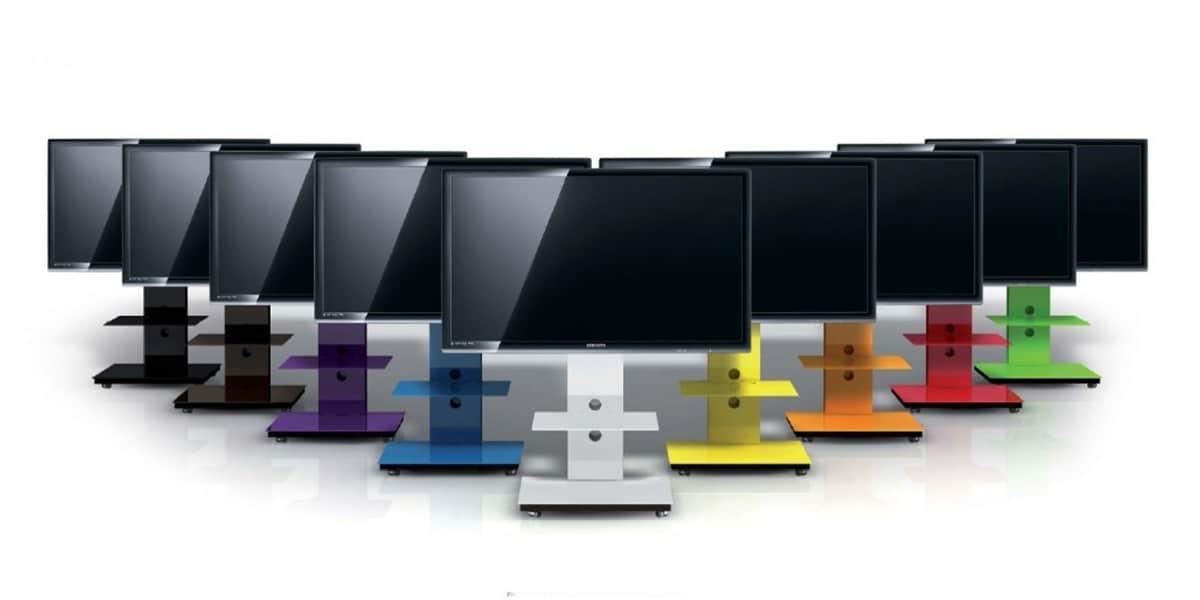 Spectral tray px601 blanc supports tv sur pied sur - Meuble tv samsung avec accroche barre de son ...