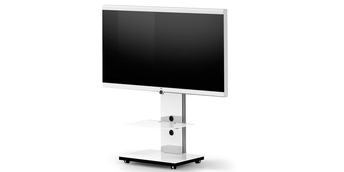 Spectral tray px601 blanc supports tv sur pied sur easylounge - Meuble tv sur pied ...