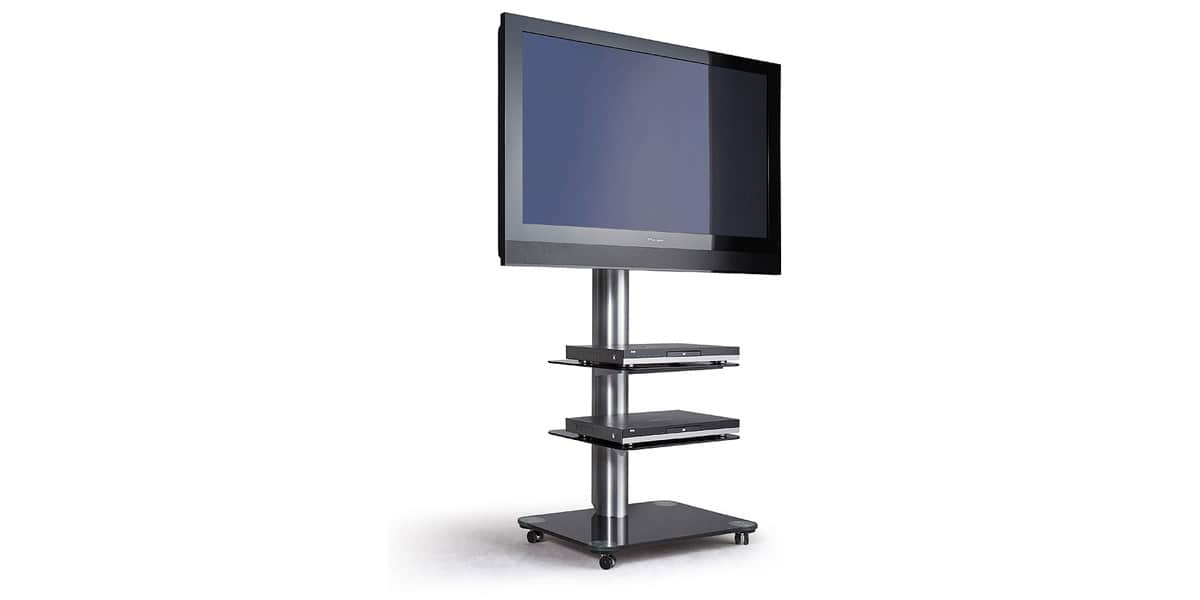 spectral floor qx1010 noir supports tv sur pied sur. Black Bedroom Furniture Sets. Home Design Ideas